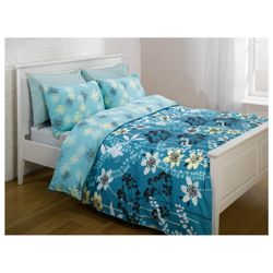 Tesco Marcia Print Duvet Set - Teal