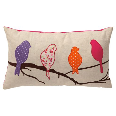 buy tesco applique birds cushion from our cushions range. Black Bedroom Furniture Sets. Home Design Ideas