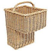 Tesco Basic Value Wicker Honey stair basket
