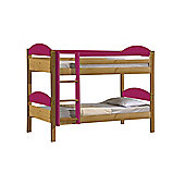 Maximus Bunk Bed 3ft Antique With Fuschia Details