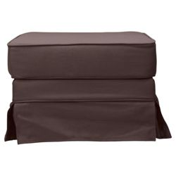 Louisa Loose Cover Footstool Chocolate