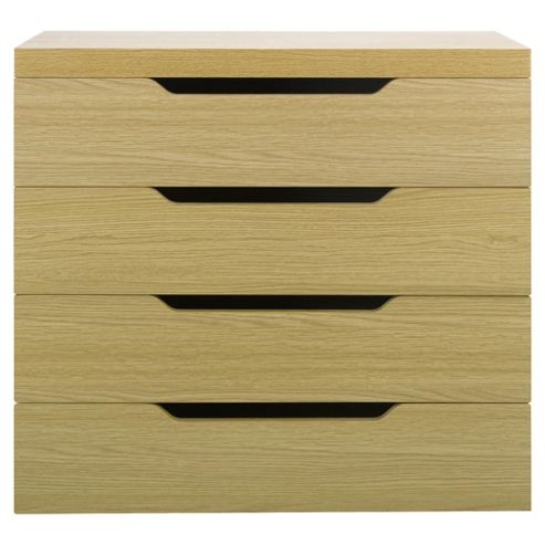 Seattle Kids 4 Drawer Chest, Oak-Effect