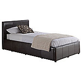 Eden Single Faux Leather Ottoman Bed Frame, Brown
