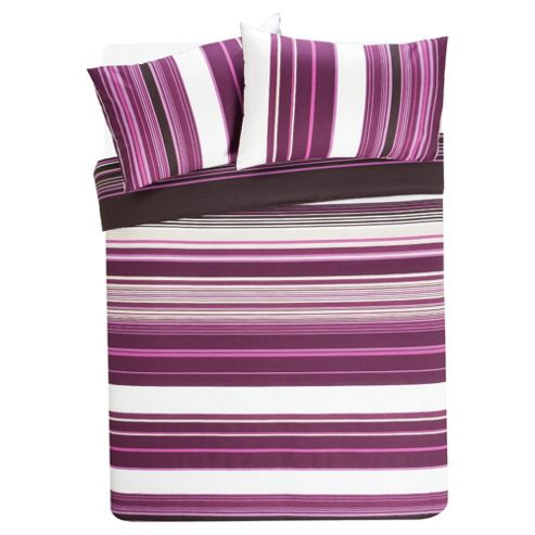 Tesco Kieran Stripe Print Duvet Cover Set - Double
