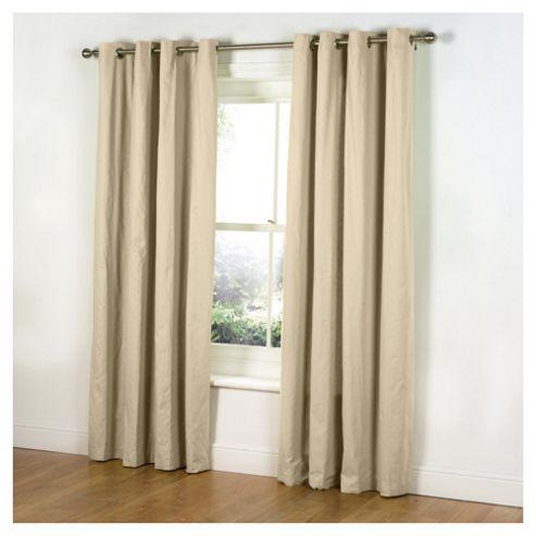Tesco Plain Canvas Eyelet Curtains W229xL137cm (90x54