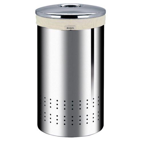 Brabantia 50L Laundry bin, brilliant steel