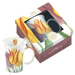 Kew Gardens Gift Boxed Tulipa Fine Bone China Mugs