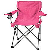 Tesco Folding Camping Chair, Pink