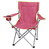 Tesco Folding Camping Chair, Pink