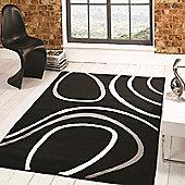 Sincerity Modern Spiro Black 80x150 cm Rug
