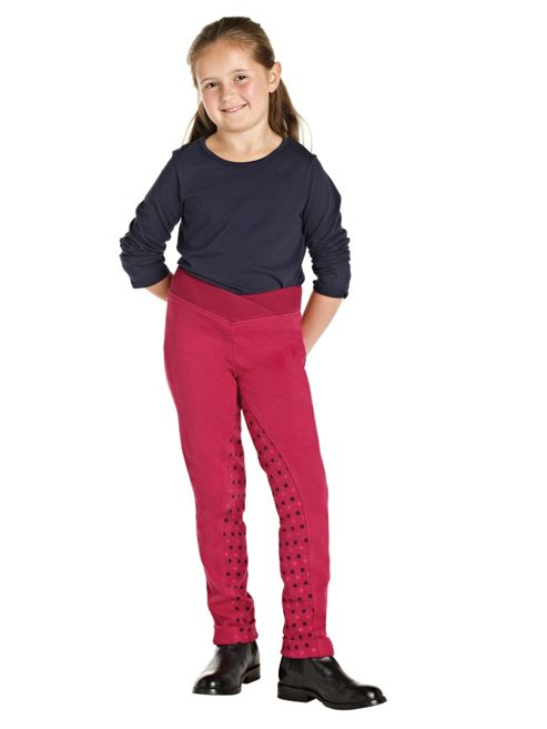 Harry Hall Child's Brockley Jodhpurs Rasberry 22