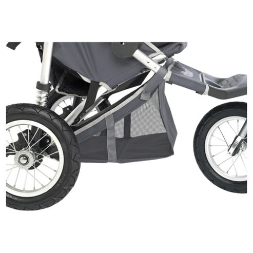 Out 'n' About Double Storage Pushchair Basket 360, Charcoal