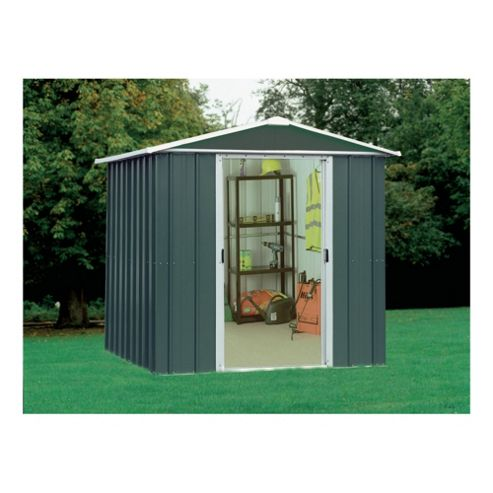 Yardmaster 6'1x4'1 Titan Metal Apex Shed with floor support frame-do not use