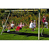 Plum Orang-Utan Wooden Garden Swing Set