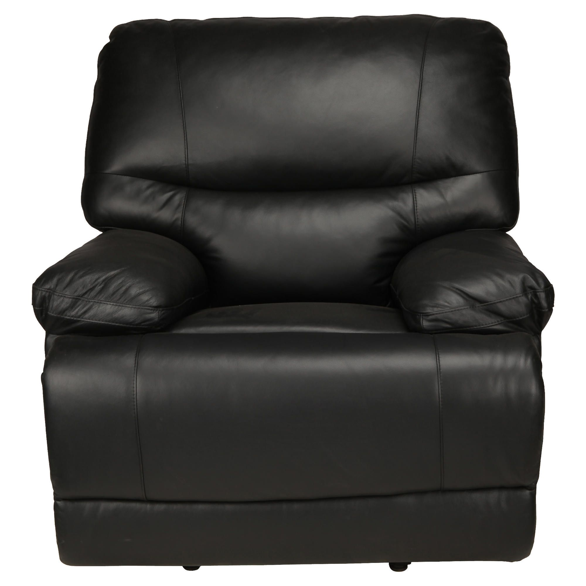 Angelo Leather Recliner Chair, Black at Tescos Direct