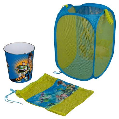 Disney Pixar Toy Story Storage Set: Pop Up Tidy, Drawstring Bag & Plastic Bin