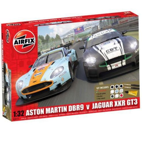 Airfix Jaguar Xkr Gt & Aston Martin Twin Gift Set