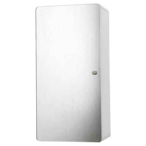 Stockholm White Gloss Wall Cabinet With Mirrored Single Door