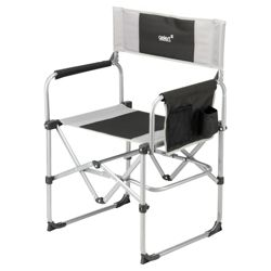 Gelert Milldale Compact Steel Executive Camping Chair, Black