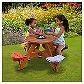 Plum Children's Garden Picnic Table With Coloured Seats
