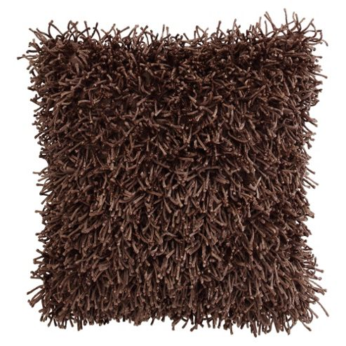 F&F Home Glam Shaggy Cushion Taupe