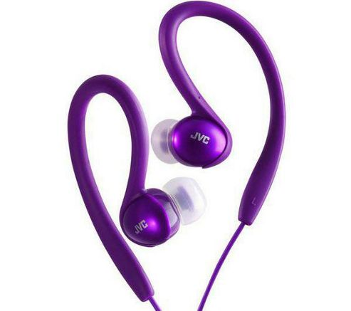 JVC In-Ear Splash Proof Sports Headphones Earphones Violet HAEBX5V