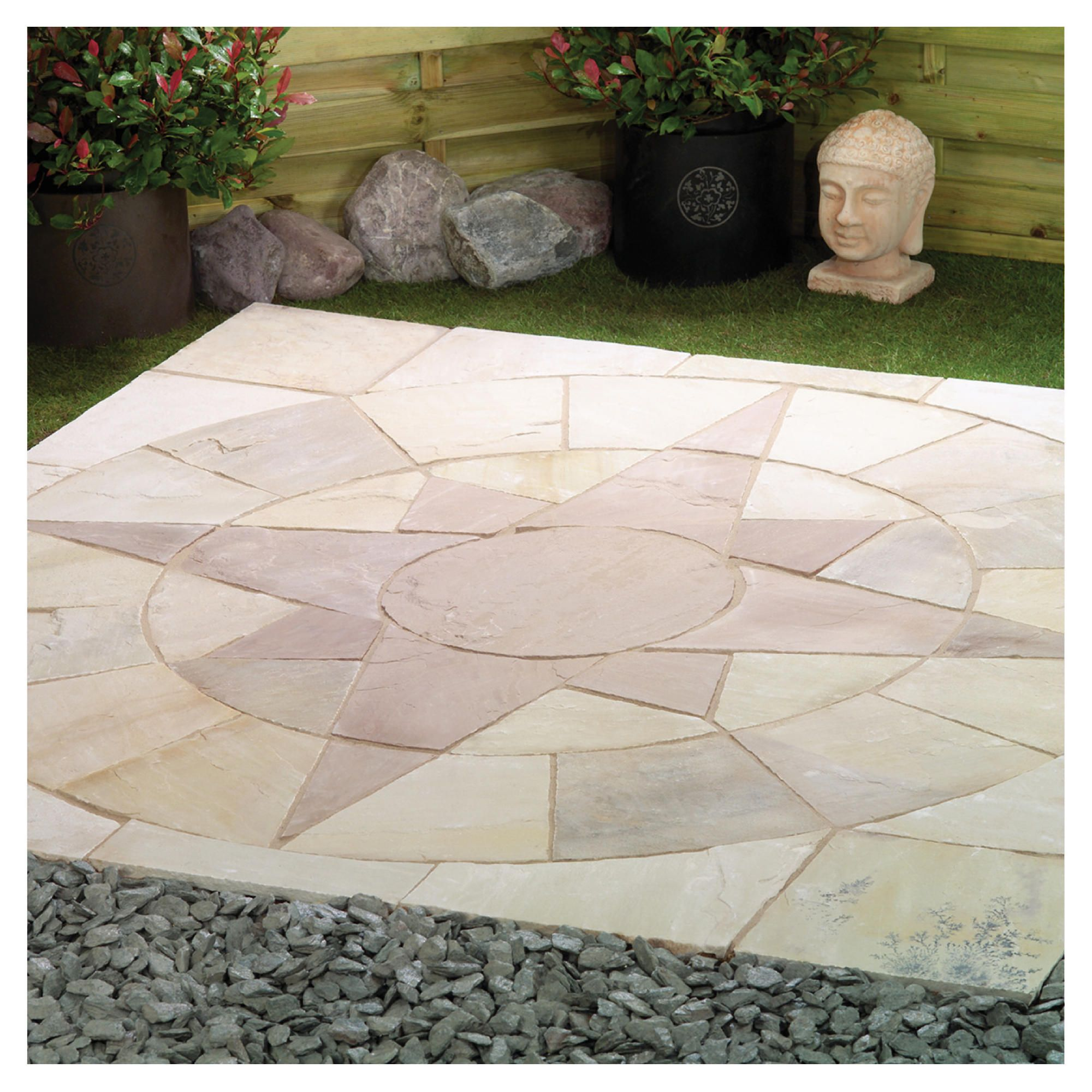 Natural Stone Mini Star Circle Including Corner Infill Kit To 2m at Tesco Direct