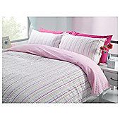Tesco Seersucker Stripe Kingsize Duvet Cover Set