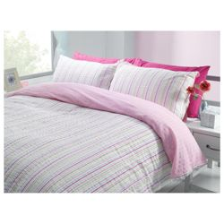 Tesco Seersucker Stripe Duvet Set