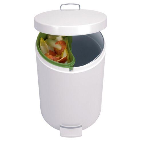 Brabantia 20L White Pedal Bin with Food Trap
