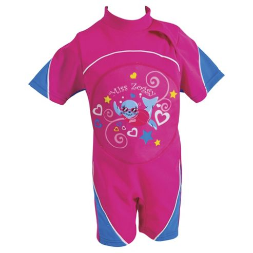 Zoggs Miss Zoggy Swimfree Float Suit, Pink, 2-3 years