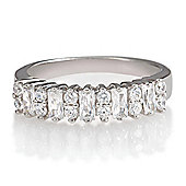 Platinum Plated Silver Eternity Ring, L
