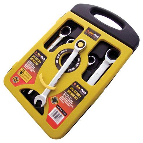 Am-Tech 5 Piece 72 Teeth Combi. Gear Wrench Set K1400