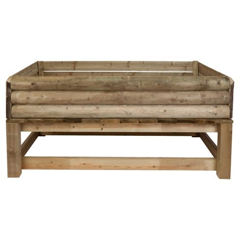 Raised bed 180cm wooden planter
