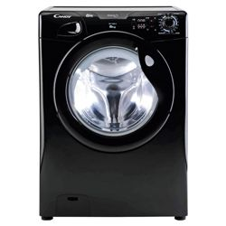Candy GOF662B Washing Machine, 6kg Wash Load, 1600 RPM Spin, A+ Energy Rating. Black