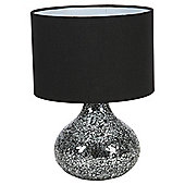 Signa Mosaic Black Silver Table Lamp Small