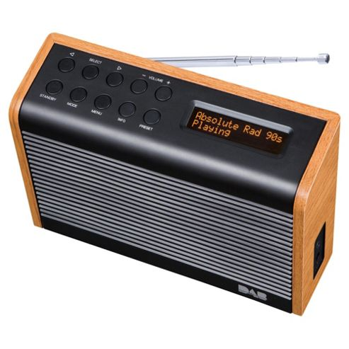 Tesco DAB1102STW Wood Effect DAB kitchen radio