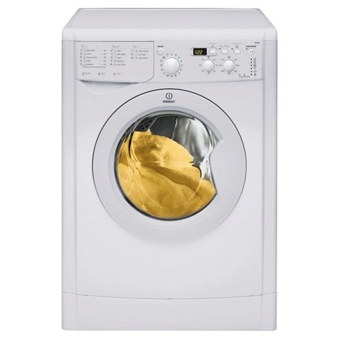 Indesit IWD71250 Washing Machine, 7kg Wash Load, 1200 RPM Spin, A Energy Rating. White