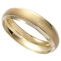 9ct Gold Mens Satin Finish 5mm Wedding Ring, P