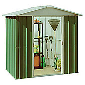 Yardmaster 6'1x6'9 Apex Metal Shed with floor support frame