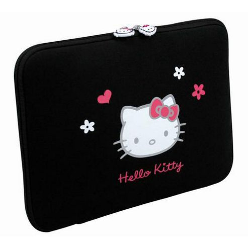 Port Designs Hello Kitty Neoprene Sleeve (Black) for 10 inch to 12 inch Notebooks