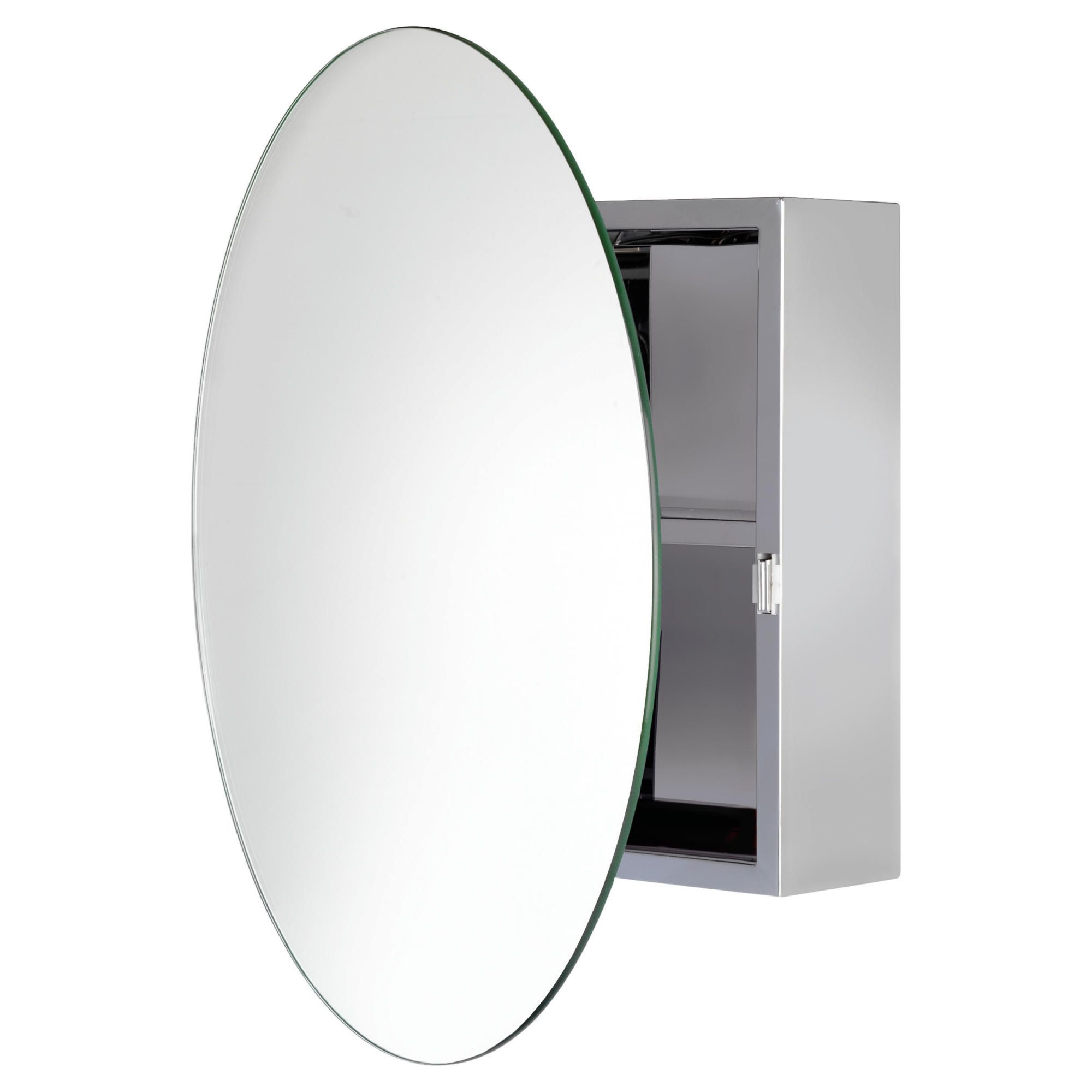 Croydex Stainless Steel Circular Mirror Cabinet