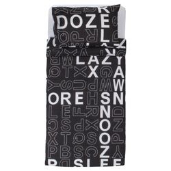 Crossword Duvet (Black), Single