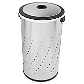 Simplehuman 55L Lidded Hamper Brushed Steel