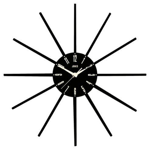 Jones & Co Luna Wall Clock Black