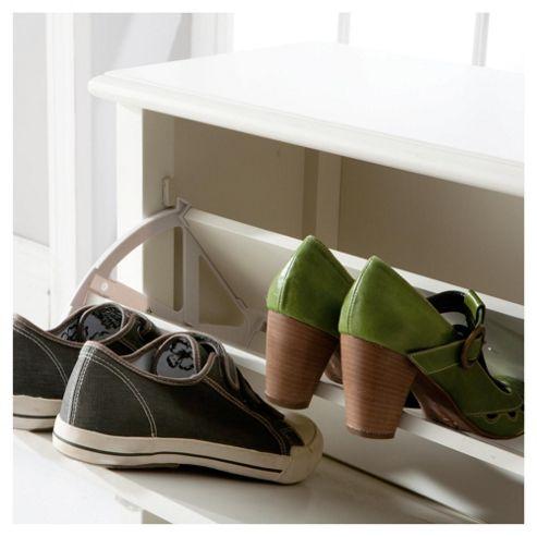 buy lille shoe storage cabinet 2 door ivory from our. Black Bedroom Furniture Sets. Home Design Ideas