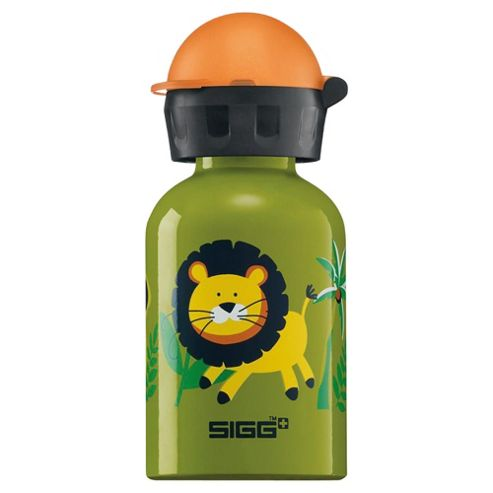 SIGG Kids Jungle Fun Children's Aluminium Drinking Water Bottle, 0.3L