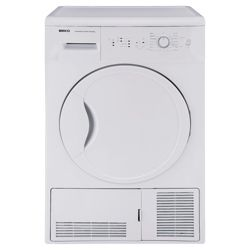 Beko DCU7230W Condenser Dryer, 7 kg Load, B Energy Rating. White