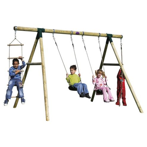 Plum Gibbon Wooden Garden Swing Set