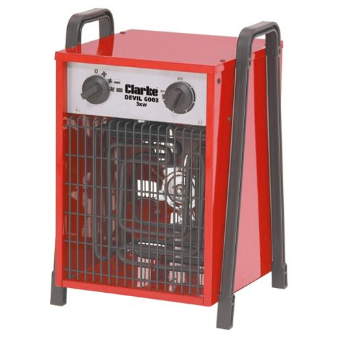 Clarke Devil 6003 industrial 3KW electric fan heater (1Ph)